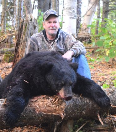 Trophy black bear at Foggy Mountain