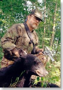 Bob Bledsoe with Maine bear