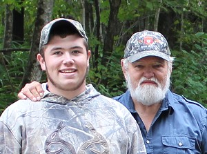 Bear hunting guides Brandon Bishop and Wayne Bosowicz