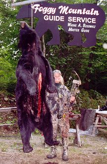 425 pound Maine bear taken by retired Harrisburg teacher Joanne Chianos using her bow in September 2005