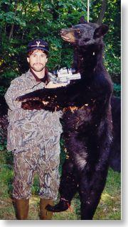 Doug Koenig with his trophy black bear from the Maine Highlands