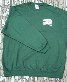 Hunting sweatshirt with Foggy Mountain Guide Service logo