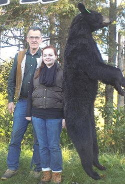 His daughters successful first bear hunt