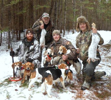 Maine snowshow hare hunting