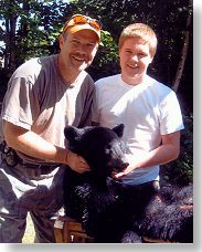 father son bear hunt at Foggy Mountain