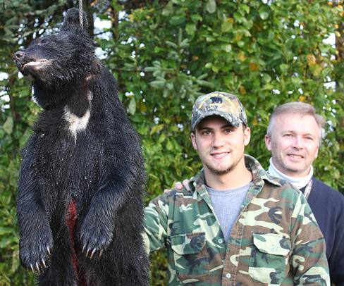 father son trophy black bear hunt at Foggy Mountain